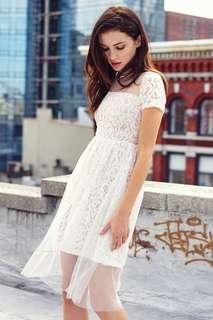 TCL Dernise Tulle Dress White S