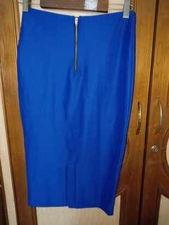 Blue electric high waist