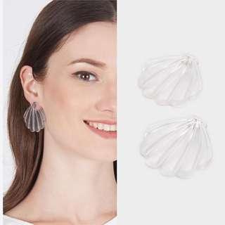 #BUY2GET1FREE seethrough sea shell earrings anting unik murah aksesoris wanita