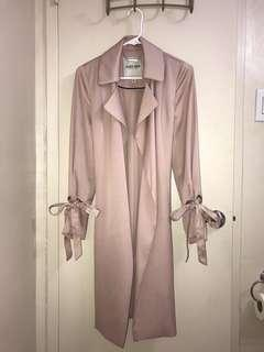 Dusty Pink Belted Duster Coat