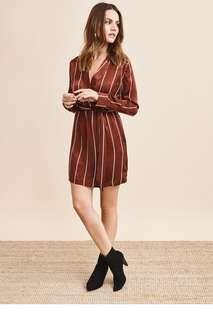 Silky stripe dress