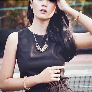 #BUY2GET1FREE Gold simple minimalist jewelry for women aksesoris kalung gelang murah