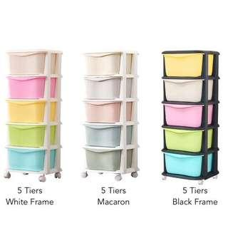 (11.11 Super Sales!) Free Delivery 5 Tiers Cabinet Drawers