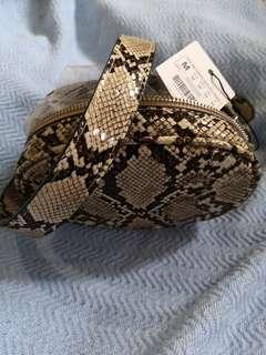 Stradivarius fanny pack in snakeskin
