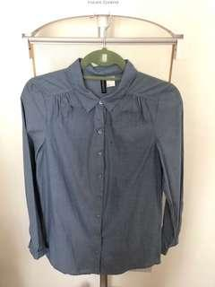 Almost New!! H&M Denim Longsleeves Top in Size Eur 34, US 4