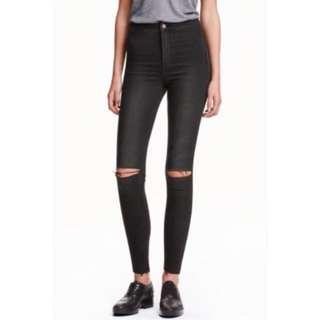 h&m skinny high waisted ankle jeans