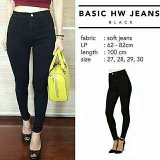 Celana Jeans Hw Punny - Hitam