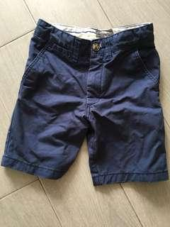H&M Boys Navy Berms Shorts 4-6y