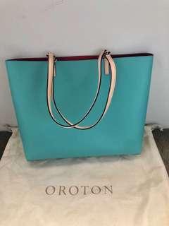 Oroton Handbag Turquoise Colour
