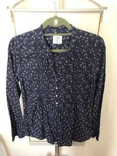 H&M Floral Longsleeves Top in Size Medium