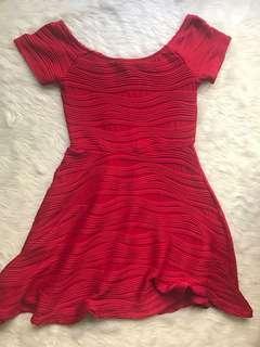 Forever 21 Overrun Red Dress