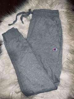 Champion track pants / joggers grey size M