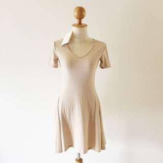 🆕BRAND NEW Ribbed A Line Flare Dress Cream Color Dress