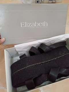 Platform Elizabeth sendal wedges (NEW)