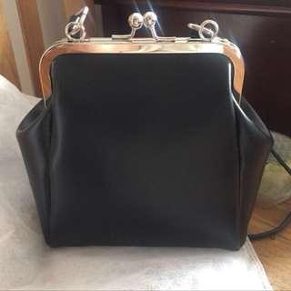 靚款黑皮手袋 Black Vintage Shoulder Bag Handbag 復古