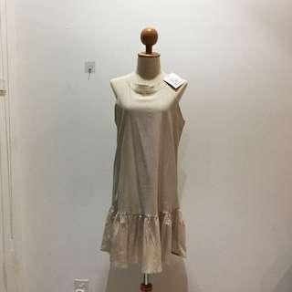 🆕BRAND NEW Round Neck Sleeveless Linen Dress Midi Dress Linen Dress