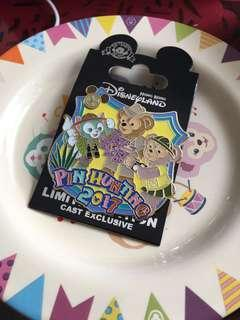 迪士尼襟章 徽章 Disney pin 2017 pin hunting cast exclusive pin