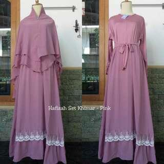 4 colors Jubah and khimar set
