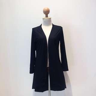 🆕BRAND NEW Basic Waterfall Black Cotton Long Cardigan