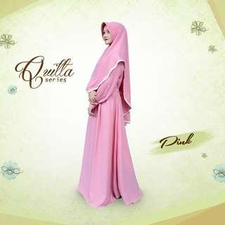 2 colors jubah and khimar set