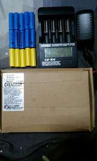 IMR battery, dummy battery & charger