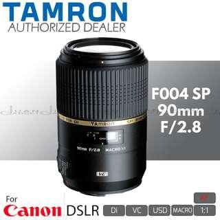 Tamron F004 AF SP 90mm f/2.8 Di VC USD 1:1 Macro Prime Lens for Canon