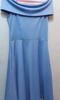 TAILOR CUSTOM MADE DRESS IN LIGHT BLUE