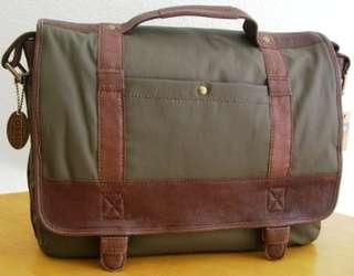 Fossil leather and wax canvas lightweight bag
