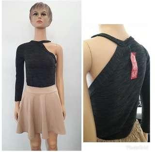 One shoulders top ( long sleeve top / atasan lengan panjang / blouse cantik / blouse import / top keren / sexy top / sexy blouse )