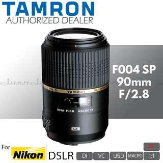 Tamron F004 AF SP 90mm f/2.8 Di VC USD 1:1 Macro Prime Lens for Nikon