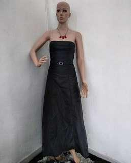 Long dress party ( gown / sexy dress / dube long dress / black dress / cocktail dress / baju pesta )