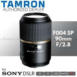 Tamron F004 AF SP 90mm f/2.8 Di USD 1:1 Macro Prime Lens for Sony