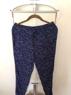 Like New!! Mango Printed Drawstring Trousers in Size XS