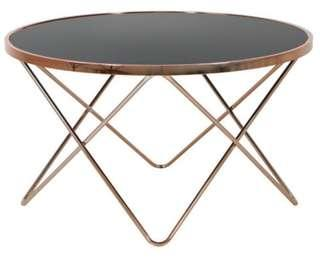 Coffee table copper frame