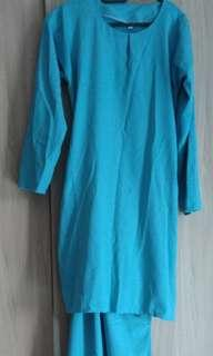 Baju Kurung Light Blue #freepostage