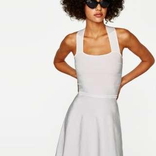 NWT Zara White Knit Dress with Criss Cross Back (Original Retail Price: Php 4,500)