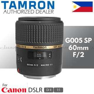 Tamron G005 SP 60mm f/2 Di II 1:1 Macro Prime Lens for Canon EF