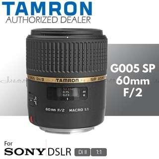 Tamron G005 SP 60mm f/2 Di II 1:1 Macro Prime Lens for Sony A