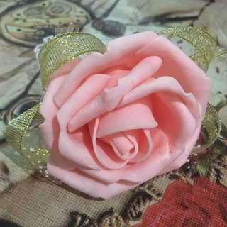 Flower Hand Corsage - Peachy Pink & Pink