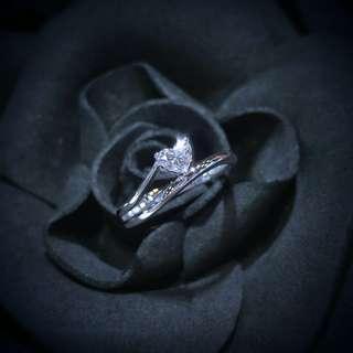【Peggyhoho】全新18K白金30份心形鑽石戒指| Mabelle 出品 | 店長精選HK11.5號