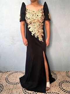 FOR RENT: Black Filipiniana Gown