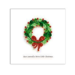 🚚 Quilling Paper Christmas Card Mistletoe