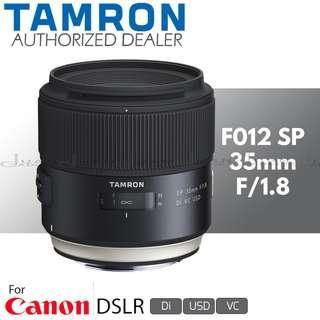 Tamron F012 SP 35mm f/1.8 Di VC USD Prime Lens for Canon EF