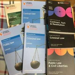 UOL倫敦大學法律學系書本