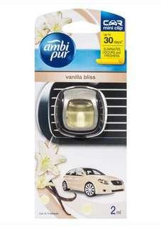 Ambi Pur Car Mini Clip Air Freshener - Vanilla Bliss 2ml
