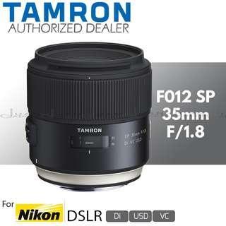 Tamron F012 SP 35mm f/1.8 Di VC USD Prime Lens for Nikon F