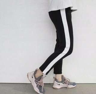 White line pants
