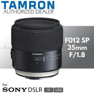 Tamron F012 35mm f/1.8 Di VC USD Prime Lens for Sony A