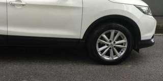 Nissan Qashqai Stock Rims. n Tyres