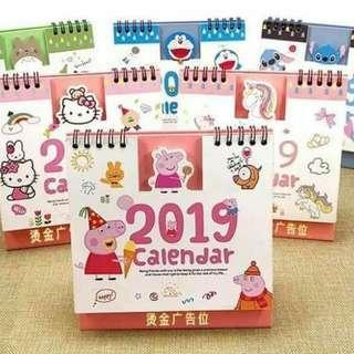 【團購】全新2019 超萌卡通造型年曆